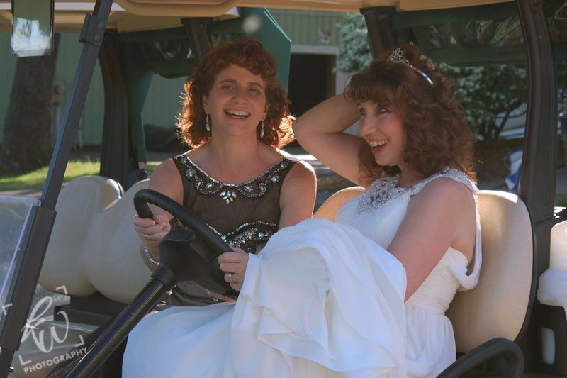 Bride and Maid of Honor at Montco wedding photo shoot.