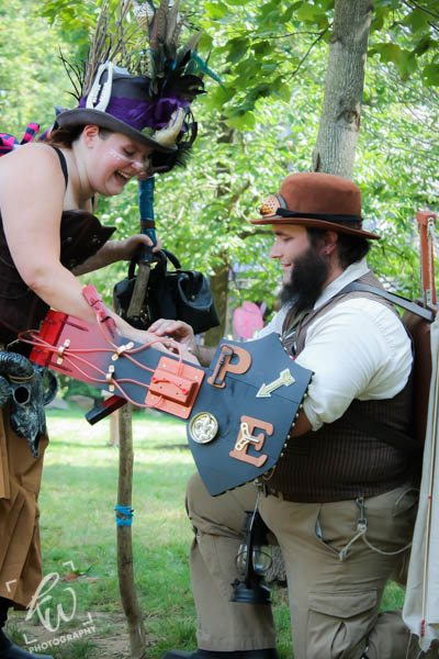 Steampunk wedding proposal.