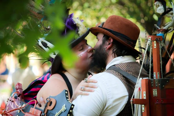 Steampunk smooches at the PA Ren Faire.