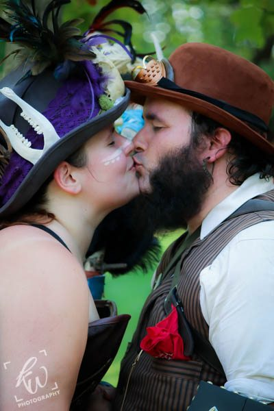 Steampunk couple at PA Renaissance Faire.