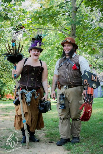 Steampunk engagement photography