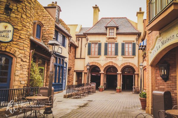 A street in France in Disney's Epcot.