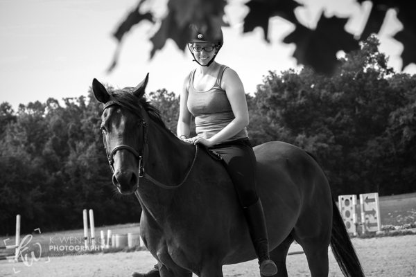 Black and white photo of Kellie and Niko.