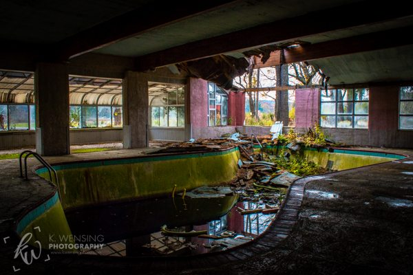 A lost and forgotten pool of an old country club.