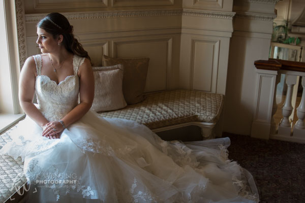 A bride waits patiently.