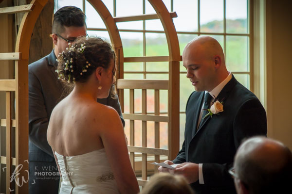 The groom shares his vows.